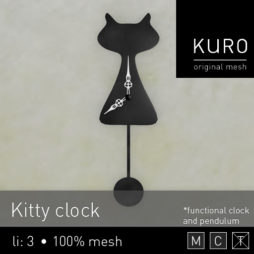 Kuro - Kitty clock