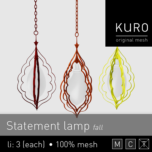 Kuro - Statement lamp (fall)
